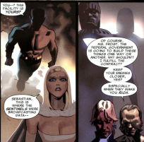 The Hellfire Club also influences and finances the development of the sentinels, etc...