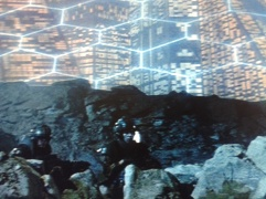 """The """"matrix"""" grid is very often shaped like a honeycomb, bringing to out attention the hexagon or octagon stargate, hive mind shape. Also as seen in Cabin of the Woods, throughout 2001: A Space Odyssey, etc..."""