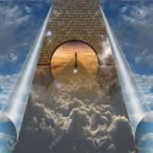17906044-sky-splits-open-showing-man-on-spiritual-journey